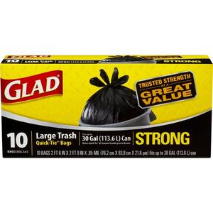 Glad Trash - 30 Gallon Strong Quick Tie