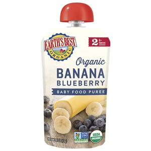 Earths Best Puree Pouch - Banana Blueberry