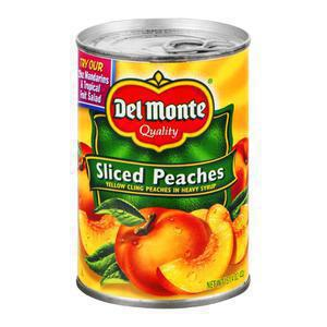 Del Monte Sliced Peaches in Syrup