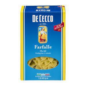 DeCecco Farfalle Pasta