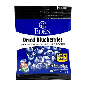 Eden Organic Pocket Snacks - Dried Blueberries