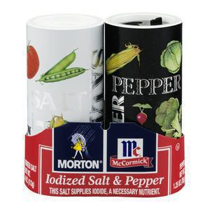 Morton Salt & Pepper Shakers