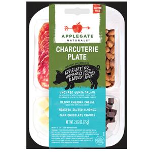 Applegate Charcuterie Plate - Salami & Cheddar