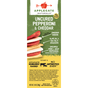 Applegate Stacker - Uncured Pepperoni & Cheddar