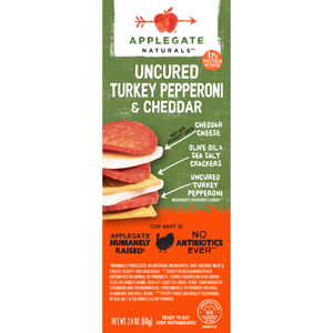 Applegate Stacker - Uncured Turkey Pepperoni & Cheddar