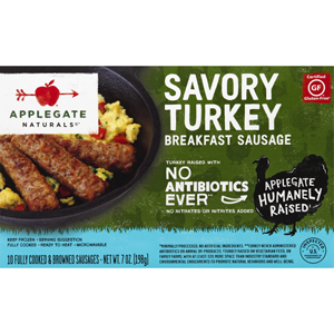 Applegate Farms Breakfast Savory Turkey Sausage