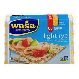 Wasa Light Rye Crispbread Crackers