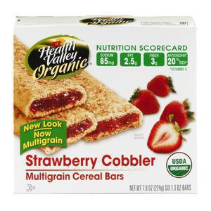 Health Valley Organic Cereal Bar - Strawberry