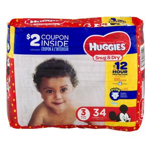 Huggies Diapers #3 16-28 lbs