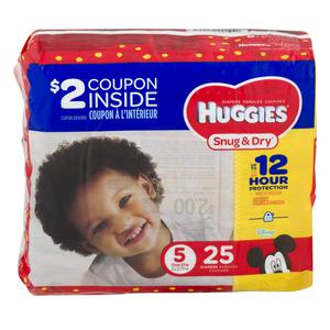 Huggies Diapers #5 Over 27 lbs