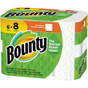 Bounty White Paper Towel - Full Size Sheets