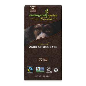 Endangered Species Dark Chocolate 72%