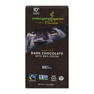 Endangered Species Dark Chocolate 88%
