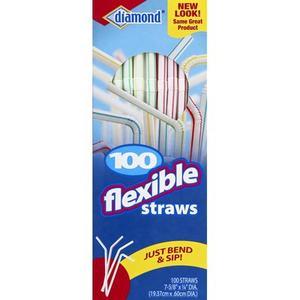 Diamond Flex Straws