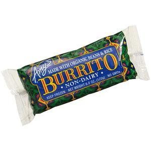 Amys Burrito - Dairy Free Bean & Rice