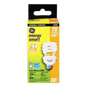 GE Light Bulbs 75 W Energy Smart