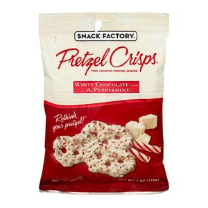 Pretzel Crisps - White Choc Peppermint
