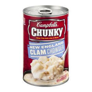 Chunky Campbells NE Clam Chowder Soup