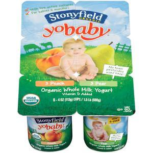 Stonyfield Yo Baby Yogurt - Peach