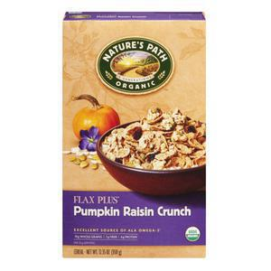 Natures Path Organic Flax Plus Pumpkin Raisin Crunch