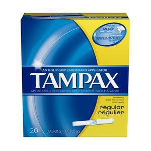 Tampax Regular Flushable Tampons