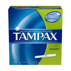 Tampax Super Flushable Tampons