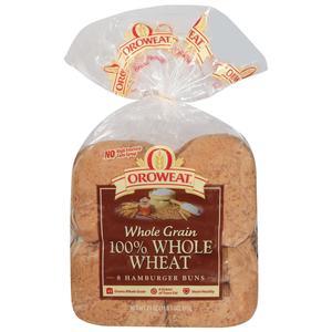 Oroweat Hamburger Buns - 100% Wheat