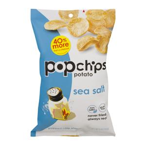 Popchips Potato Chips - Sea Salt
