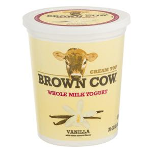 Brown Cow Vanilla Yogurt