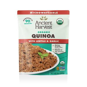 Ancient Harvest - Ready to Heat Quinoa with Lentils