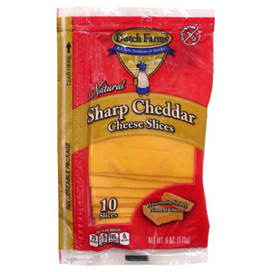Dutch Farms Cheese - Sliced Sharp Cheddar