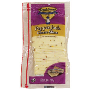 Dutch Farms Cheese - Sliced Pepper Jack