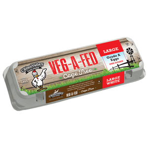 Veg a Fed Cage Free White Eggs Large Grade A
