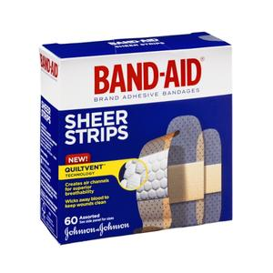 Band Aid Sheer Bandages