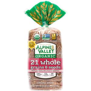 Alpine Valley Organic Bread - 21 Whole Grain