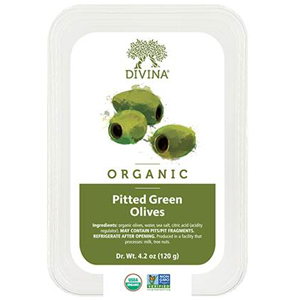 Divina Olives - Organic Pitted Green