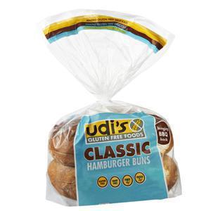 Udis Gluten Free Hamburger Buns Frozen