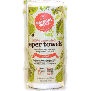 Natural Value Paper Towels - Recycled