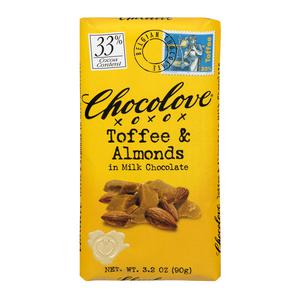 Chocolove Milk Chocolate Toffee & Almond Bar