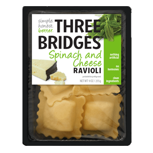 Three Bridges Ravioli - Spinach & Cheese