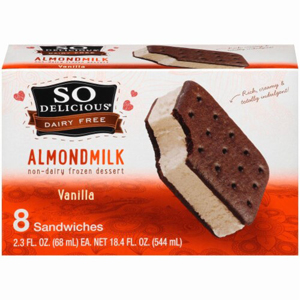 SoDelicious Ice Cream Sandwiches - Almond Milk Mini Vanilla