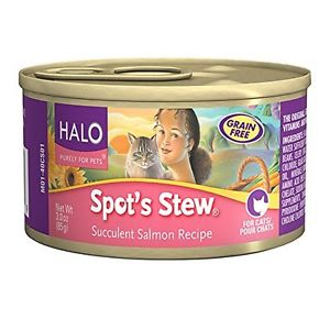 Halo Cat Food Canned - Spots Stew Salmon