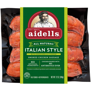 Aidells Italian Smoked Chicken Sausage with Mozzarella Cheese
