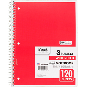 Notebook - 3 Subject
