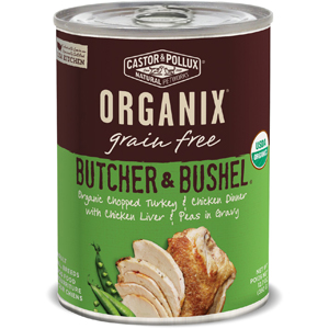 Castor & Pollux Organix Canned Dog Food - Turkey Veg