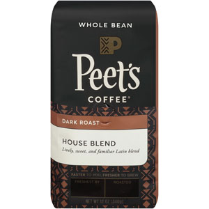 Peets Coffee Whole Bean House Blend
