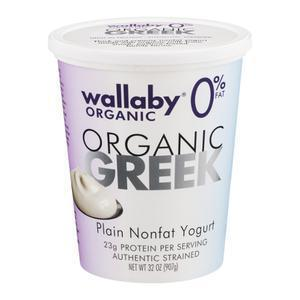 Wallaby Organic Greek Yogurt Nonfat Plain
