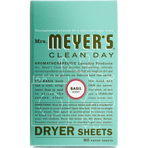 Mrs Meyers Dryer Sheets - Basil
