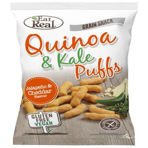 Eat Real Quinoa & Kale Puffs Jalapeno Cheddar