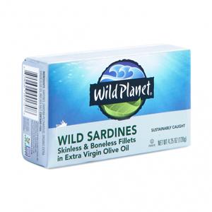Wild Planet Sardines in Olive Oil - Boneless Skinless